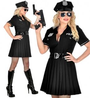 Polizistin Polizei Police Girl Damen Kostüm Kleid mit Gürtel und Hut S, M, L, Xl