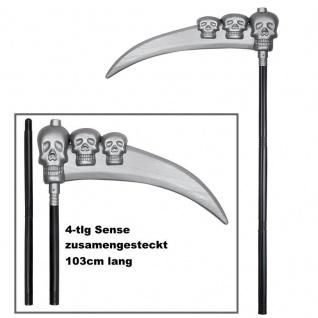 Sense mit Totenkopf 103 cm Sensemann Tod Horror Halloween Karneval Zubehör #575
