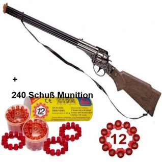 FRONTIER SCOUT 12-Schuss Western Gewehr mit 240 Schuss Munition Spielzeug Cowboy