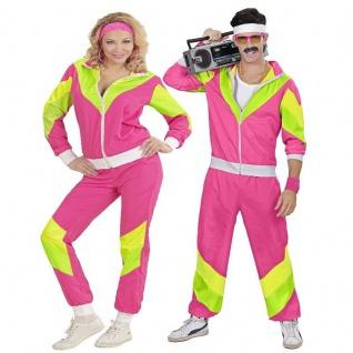 80er Jahre FUNKY Retro Jogginganzug für Damen & Herren Partner-Kostüm Assi Proll