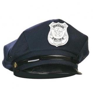 Polizei POLIZEIMÜTZE Schwarz Blau Cop Cap Police Hut Mütze Kappe Kostüm S8427