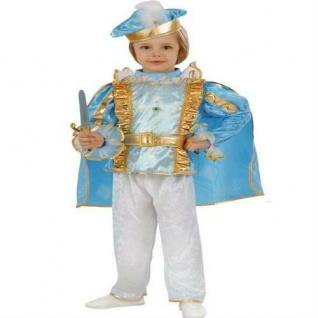 KLEINER PRINZ JUNGEN Kostüm blau Kinder Verkleidung Märchen König Gr. 98 od. 104