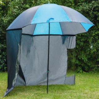 Angelschirm Sonnen Schirm mit Seitenwand 200/Ø220 Anglerschirm Schirmzelt Angler