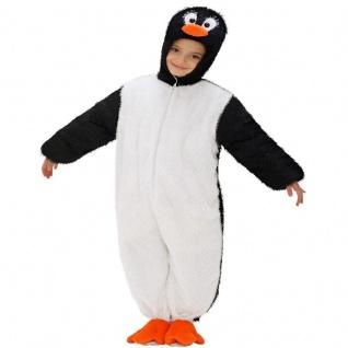 PINGUIN Kinder Kostüm 113cm 3-5 Jahre PLÜSCH Overall Tierkostüm Pinguinkostüm