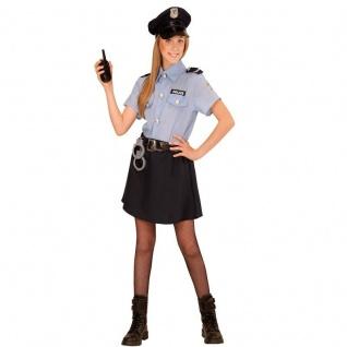 POLIZEI MÄDCHEN Police Girl Kinder Kostüm - Größe 158 - Polizistin Cop # 4008