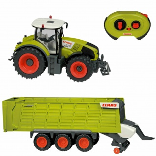 CLAAS Axion 870 RC Traktor Cargo Anhänger Funk Ferngesteuertes Auto Elektro 1:16