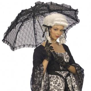SPITZENSCHIRM Barock Schirm schwarz Rüschenschirm Kostüm Zubehör #6677