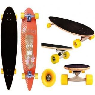 LONGBOARD 91, 5 cm HAWAI Skate Board Holzboard Komplett #52OR-ORG