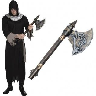 SKELETT AXT ca 68cm Totenkopf Axt - Skull Halloween Kostüm Zubehör #2011