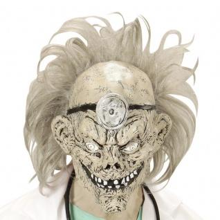 MASKE ZOMBIE DOKTOR MIT PERÜCKE Arzt Halloween Karneval #4955