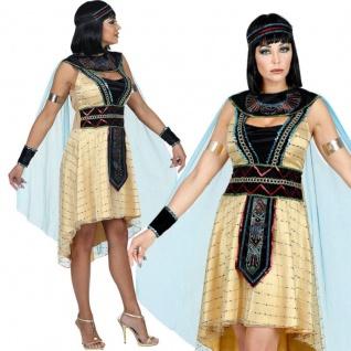 CLEOPATRA PERÜCKE mit KOPFSCHMUCK Ägypterin Pharao Damen Kostüm Karneval #2089