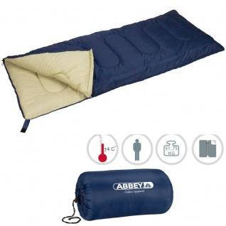 XXL Deckenschlafsack Schlafsack Outdoor Camping Abbey Camp® - marine/Sand (21NK)