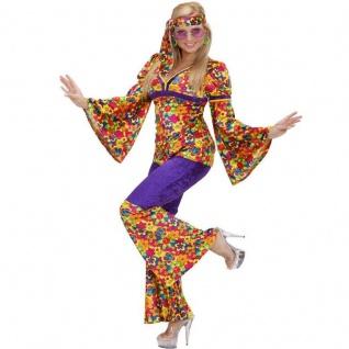 70er Woodstock Hippie Girl Damen Kostüm 3tlg. Frau S 34/38 M 38/40, L 40/42, XL