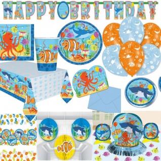 OCEAN Meerestiere Auswahl zum Kindergeburtstag - Geburtstag Kinder Party Deko