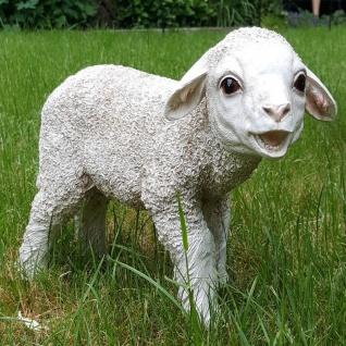 Gartenfigur Lamm Stehend Schaf Dekofigur Garten Deko lebensecht Figur #8497