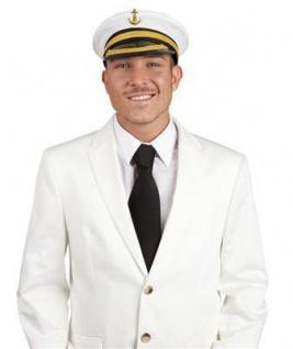 KAPITÄNSMÜTZE Motorboot Kapitän Mütze Marine Hut Seefahrer