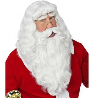 Exclusive WEIHNACHTSMANN Perücke mit Bart und Augenbrauen Nikolaus Weihnachten