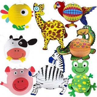 Kinder Laternen Lampion Tier Motive St.Martin Laternenumzug Zebra Frosch Dino