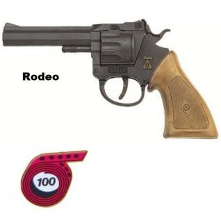 Revolver RODEO Western Knall-Pistole Kinder Spielzeug 100 Schuß Sohni Wicke