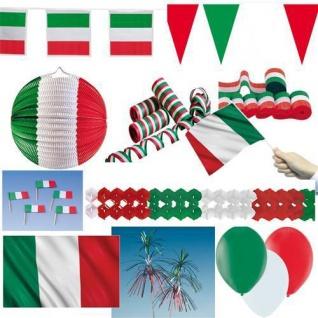 ITALIEN DEKO Party Set grün weiss rot italienische Dekoration Tischdeko