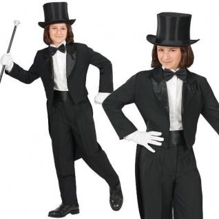 FRACK schwarz Kinder Kostüm Gr. 116 NEU Show Theater Karneval Party Auftritt