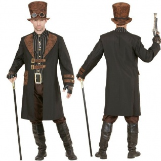 Elegantes Steampunk Herren Kostüm - Viktorianisch Fantasy Gothic Karneval NEU - Vorschau