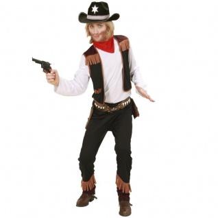 3 tlg. JUNGEN COWBOY KOSTÜM Gr. 140 Kinder Western Verkleidung Karneval #0259