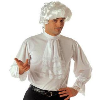 Herren HEMD MIT RÜSCHEN JABOT weiss Kostüm Zubehör Rokoko, Renaissance, Gotik