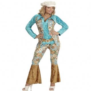 Kostüm HIPPIE FRAU Woman 46/48(XL) SAMTLOOK 70er Flower Power Schlagermove #172y