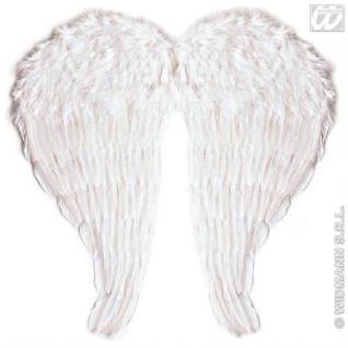 Engelsflügel Kinder weiß mit Federn 51 x 46 cm Kostüm Engel Flügel