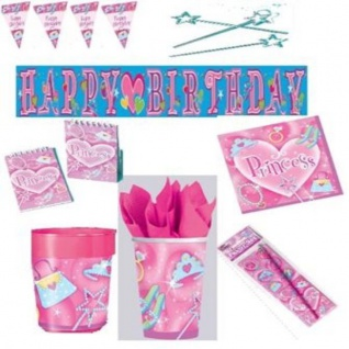 PRINCESS Kindergeburtstag Geburtstag Motto Party Princess Give Aways Deko