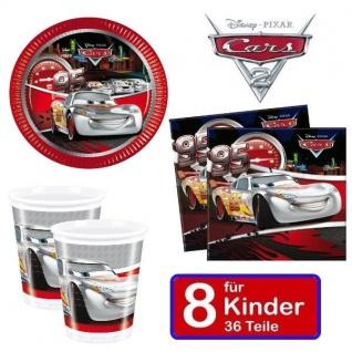 Disney CARS silver Kinder Geburtstag Party - Teller Becher Servietten 8 Kinder