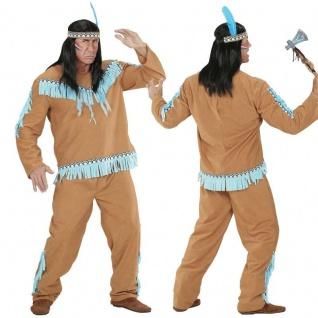 INDIANER KOSTÜM Western Sioux Apache Herren Kostüm camelfarben S M L XL