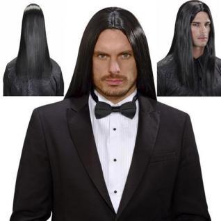 De luxe Perücke wie ECHTHAAR Herren Langhaar Gothic, Bülent schwarz 9201