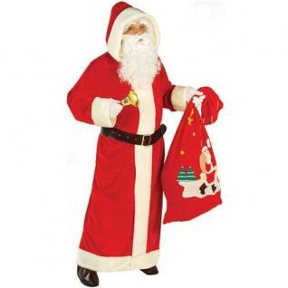 WEIHNACHTSMANN MANTEL Nikolaus Weihnachtsmann Kostüm XL1556