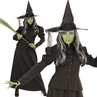 Hexe Kostüm L (42/44) Halloween Damen Hexenkostüm Hexen Zauberin Magierin #7448