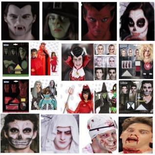 Halloween Make up Sets - Teufel Zombie Hexe Vampir Skelett Dracula Tod Schminke