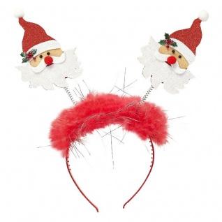 Nikolaus Santa Klaus auf Haarreif Zubehör Weihnachtsmann Kostüm Weihnachten