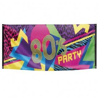 80er Jahre Party Banner Straßenbanner 80's Disco Wand Deko Fahne Mottoparty