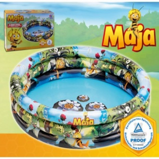 3-Ring-Pool Biene Maja Planschbecken Kinder-Pool Bade-Pool Happy People 16301
