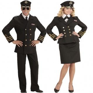NAVY KAPITÄN Captain Marine Offizier Damen und Herren Kostüm - Karneval Fasching