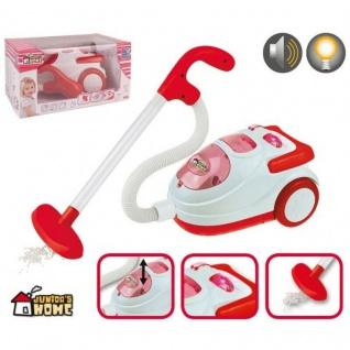 Kinder Staubsauger mit Sound & Saugfunktion Putzwagen Spielzeug #5183