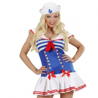 Sexy SAILOR GIRL Matrosin Damen Kostüm L (42/44) Marine Matrose Kleid 8966