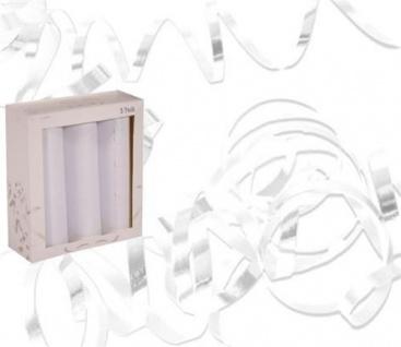 3 Stangen Luftschlangen weiß Party Dekoration Geburtstag Hochzeit 22752