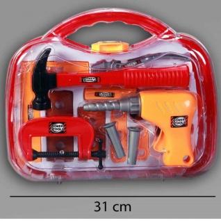 Kinder Werkzeugkoffer 18tlg. Spielzeug Werkzeug Kiste Bohrmaschine Hammer #727
