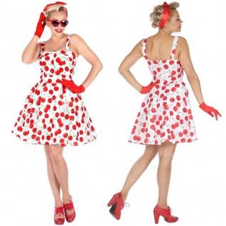 50er Tanzkleid Rockabilly Petticoat Kleid Vintage Mode Damen Kostüm Rock'Roll