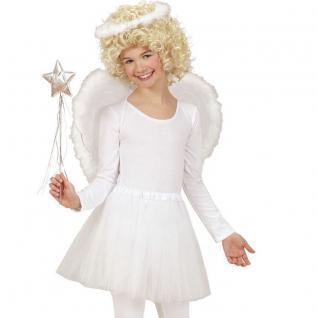 3tlg Engel Kostüm Set für Kinder 5-8 J. Weihnachten Rock Flügel Heiligenschein