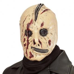 Horror Maske BLUTIGE REIßVERSCHLUSSMASKE Halloween Monster Zombie 1015