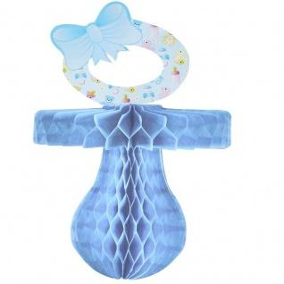 XL SCHNULLER blau Wabenball Geburt Junge Baby Party Hänge-Deko #5774