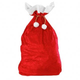 Weihnachtsmann Nikolaus Sack aus Samt 60x100cm Weihnachten Geschenke-Sack #1561